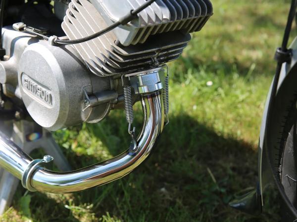 Tuningauspuff Resonanzauspuff 60-85ccm mit Kalotte - für Simson S50, S51, S70