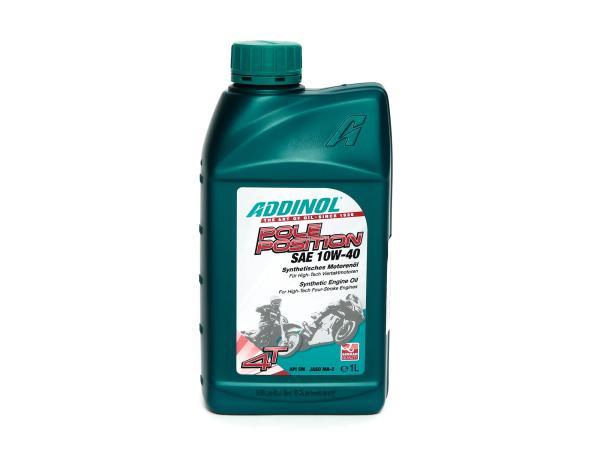 ADDINOL Pole Position, SAE 10W-40 Motorcycle Engine Oil 4-stroke - 1 Liter