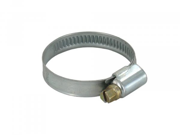 Clamp (worm thread clamp) - ø 25-40mm, 9mm wide - galvanised - Hose clamp