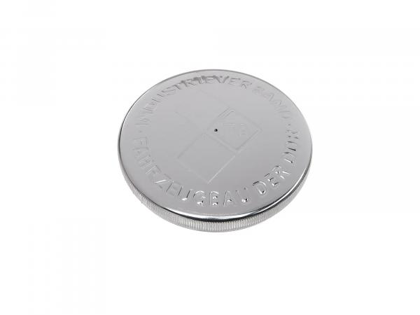Tank cap for ø 60mm, aluminium polished, with embossing IFA