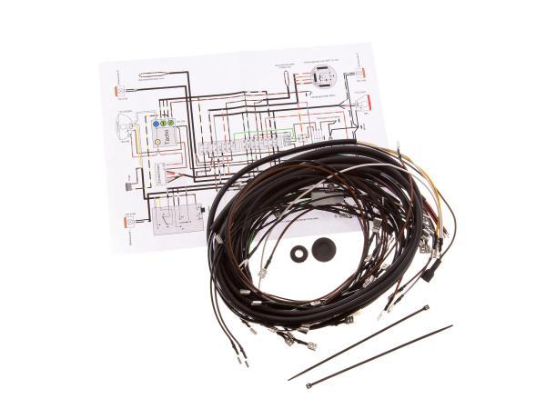 Kabelbaumset SR50/1B, 12V-Unterbrecherzündung mit Schaltplan