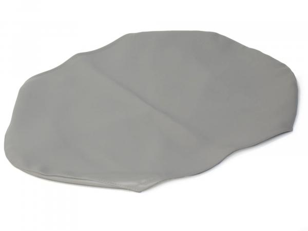 Seat cover smooth, grey for short bench without lettering - for Simson KR51/1 Schwalbe, SR4-2 Star