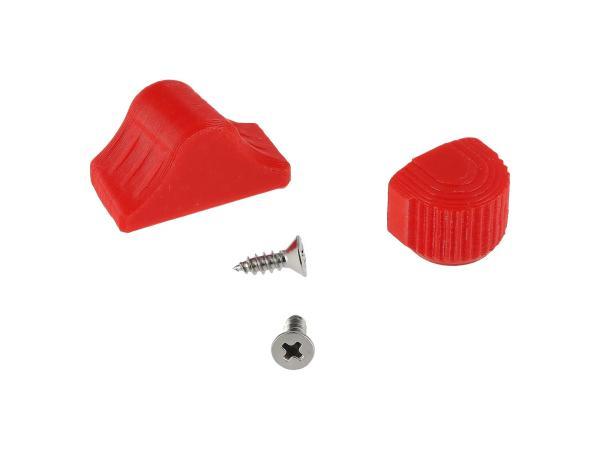 10069053 Set: Abblend- & Blinkerschalterknopf, Rot - für S51, S70, SR50, SR80, ETZ - Bild 1