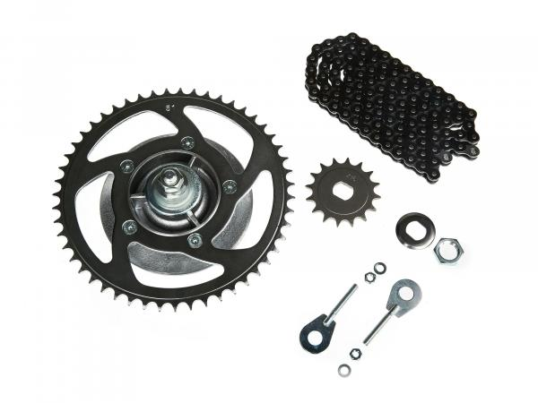Sprocket drive set (chain set) 25km/h (throttled) - for Simson SR50
