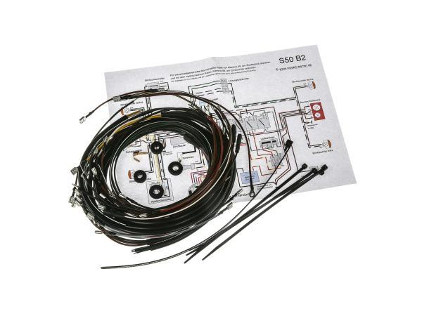 Kabelbaumset S50 B2, 6V-Elektronikzündung mit Schaltplan