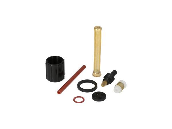 Set: Reparatur für DDR-Benzinhahn (Ø18mm, mit Wassersack) - für Simson S50, S51, S53, S70, SR4-3 Sperber, SR4-4 Habicht - MZ ES, ETS, TS, ETZ