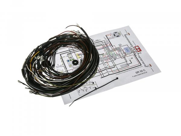 Wiring harness set SR50 C, 12V electronic ignition with wiring diagram