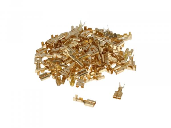Flat receptacle SET 100 pieces 6.3 - Cable lug DIN 46247 for cable Ø0.75-1.5