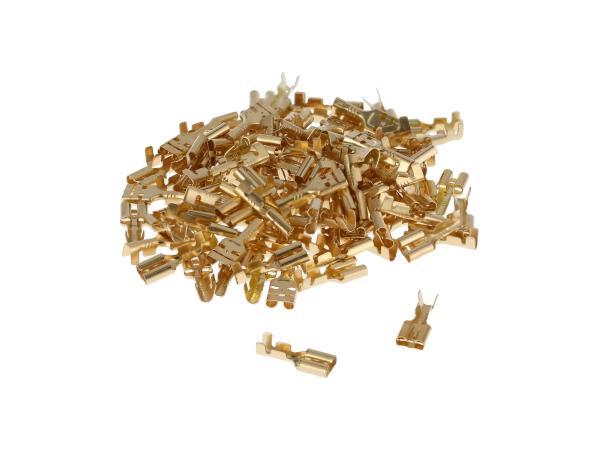 Flachsteckhülse SET 100 Stück     2,8 mit Rastnase  - Kabelschuh DIN 46247 für Kabel 0,5-1,0