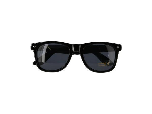 Sonnenbrille mit ANTRIEB Logo - Schwarz / Rauchgrau