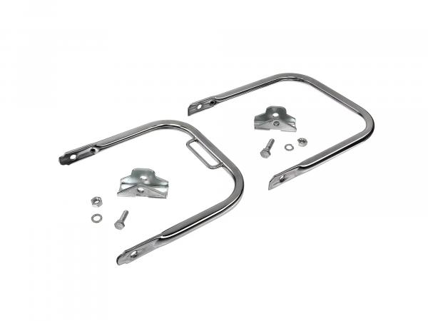 Luggage carrier with abutment, short support bracket, chrome plated - Simson S50, S51, S70