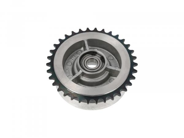 Chain wheel driver, 34 tooth with ball bearing (closed on both sides) SKF 6203 C3 2Z - Simson S50, S51, KR51 Schwalbe, SR4, Duo