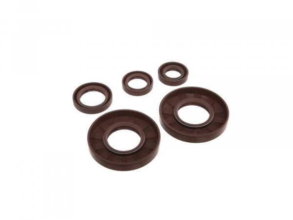 Set: Oil seals motor, brown, double lip - for MZ ES175/2, ES250/2