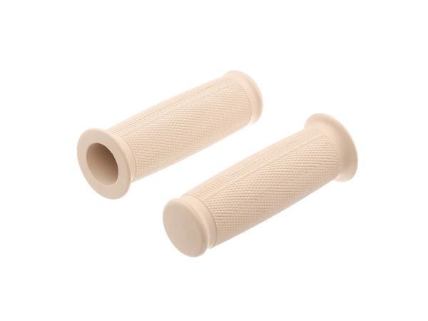 Set: 2x Lenkergummi elfenbein (kleiner Bund / ballige Form) - für AWO