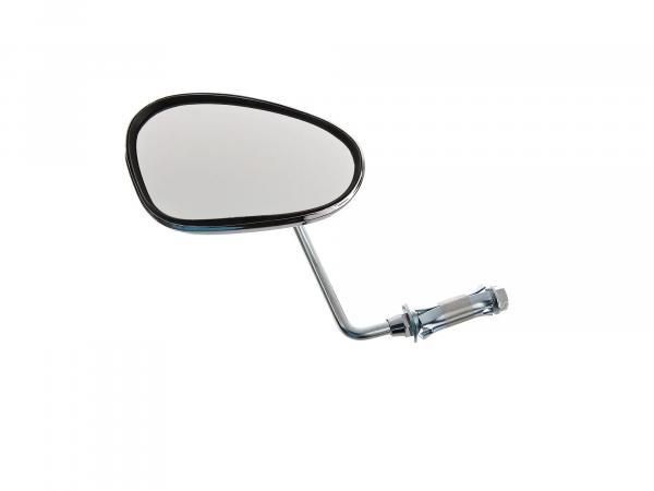 mirror left, handlebar mounting, short bar 90°