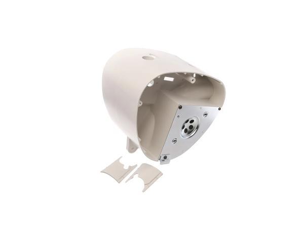 Gehäusemittelteil weißgrau, mit Abdeckplatte - Simson S50, S51, S70