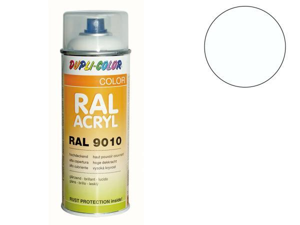 Dupli-Color Acryl-Spray RAL 9010 reinweiß, glänzend - 400 ml
