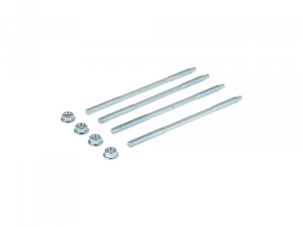 10070286 Set: 4x Zuganker mit Muttern - M6x130mm für M52, M53, M54 - S50, KR51/1 Schwalbe, SR4-2 Star, SR4-3 Sperber, SR4-4 Habicht - Bild 1