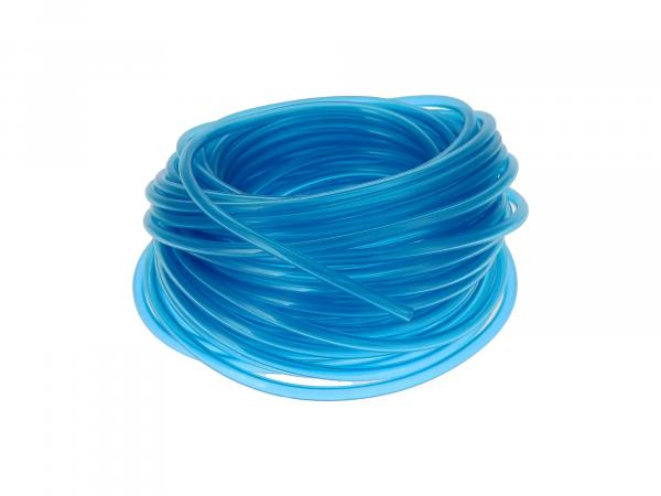 Benzinschlauch, Blau-transparent, 25 Meter-Bund, Ø 5x8,2mm