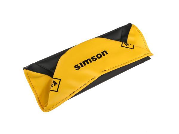 10002832 Sitzbezug strukturiert, schwarz/gelb für Endurositzbank mit SIMSON-Schriftzug - Simson S50, S51, S70 Enduro - Bild 1