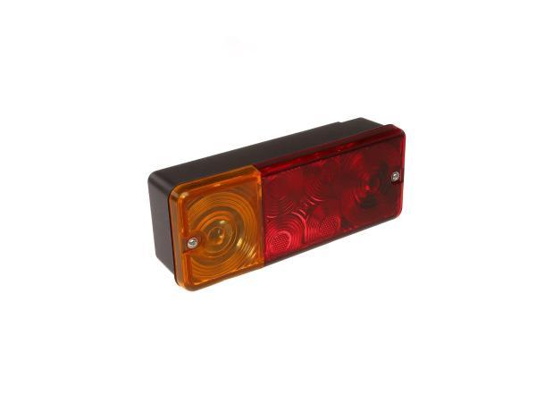 Dreikammerleuchte komplett, eckig, mit Kennzeichenbeleuchtung, für DDR-Fahrzeuge