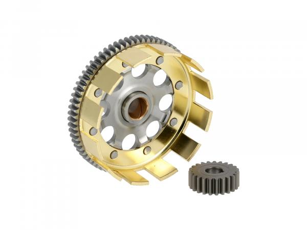Set: Sport clutch basket + drive pinion, straight tooth, 71/23 tooth - Simson S70, S83, SR80