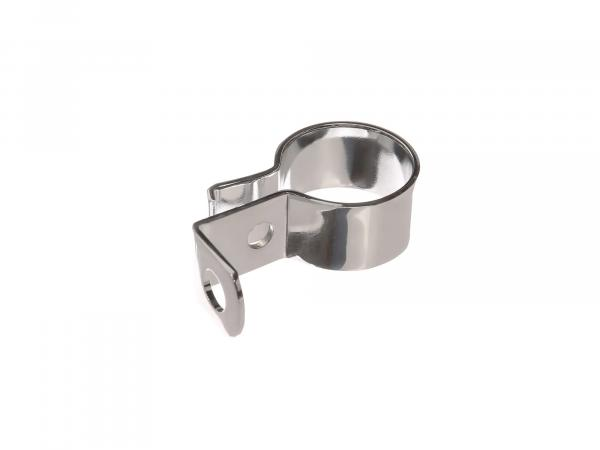 Front clamp with mounting bracket Ø38mm chrome suitable for AWO (type 2)