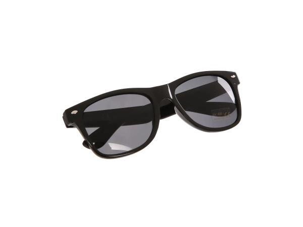 Sonnenbrille mit SIMSON/MZA Logo - Schwarz / Rauchgrau