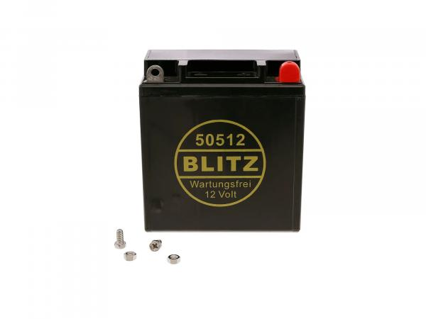 GP10068564 Batterie 12V 5,5Ah AGM (Vlies - wartungsfrei) - Simson S50, S51, S70, S53, S83, SR50, SR80 - Bild 1