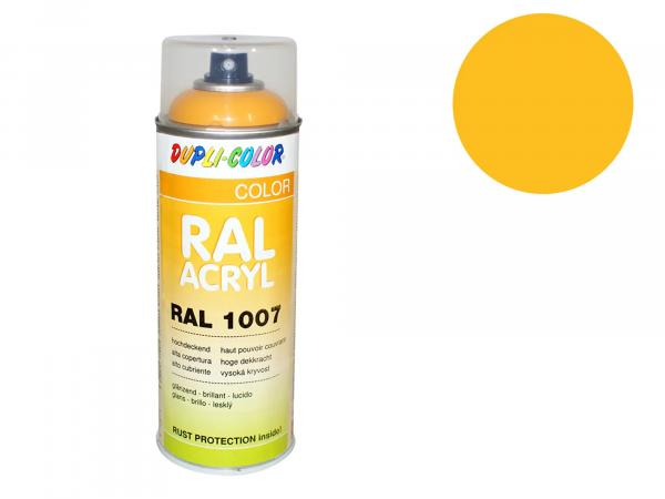 Dupli-Color Acryl-Spray RAL 1021 rapsgelb, seidenmatt - 400 ml