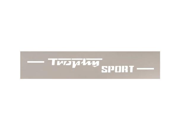 Schriftzug (Folie - Schablonierfolie) Trophy Sport für ETS250