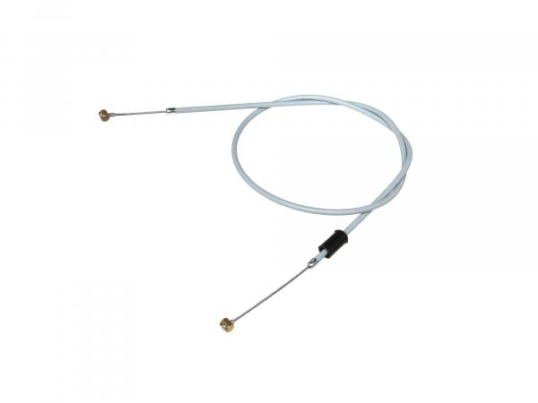 brake cable front, grey, flat handlebar, made in Germany - for MZ TS 125, 150, 250, ES 125, 150, ETS 125, 150