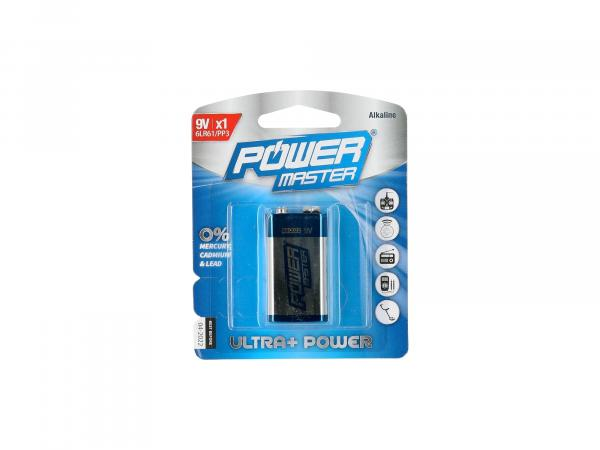 Power Master Alkali-Batterie 6LR61 - 9Volt Block