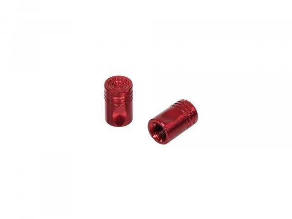 Set: 2x valve cap pin, red anodized