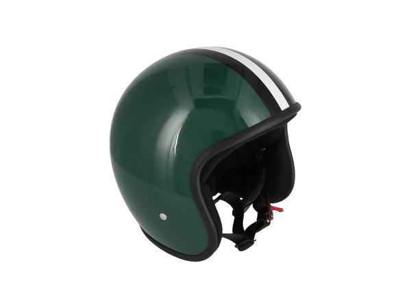 """K10000122 ARC Helm """"Modell A-611"""" Retrolook - Grün mit Streifen - Bild 1"""