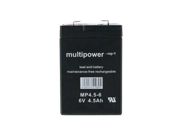 10069890 Batterie 6V 4,5Ah Multipower (Gelbatterie) - Bild 1