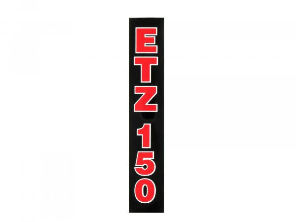 Writing (foil) ETZ150 Black with red writing (for telescopic fork)