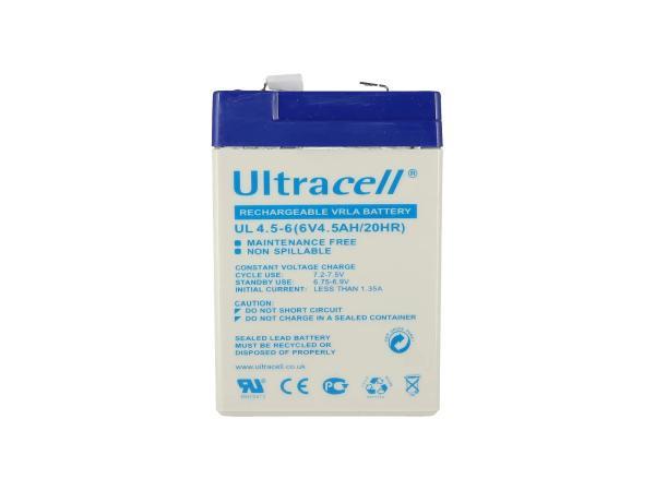 10069172 Batterie - 6V 4,5Ah Ultracell (Gelbatterie) - Bild 1