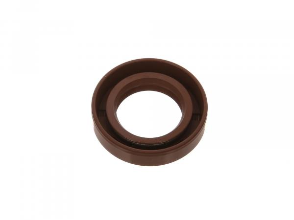 Oil seal 25x42x10, brown, dust lip