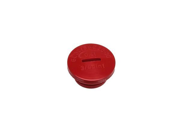 Verschlussschraube in Rot (Öleinfüllöffnung), Original ohne O-Ring