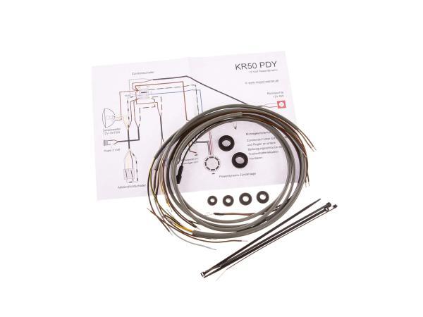 10068522 Kabelbaumset für PD-Zündanlage 6-12V inkl. Schaltplan - Simson KR50 - Bild 1