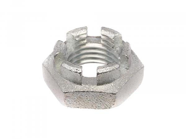 castle nut M14x1,5 low form, bare - DIN937