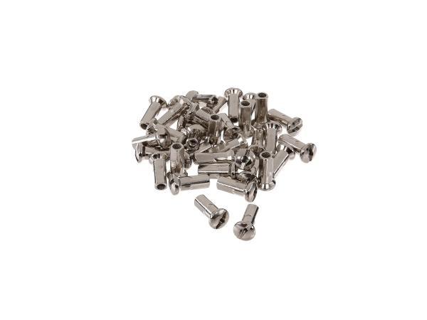 Set: spoke nipple M4, nickel-plated - for MZ ETZ, TS, ES, AWO, RT125, BK350, EMW R35