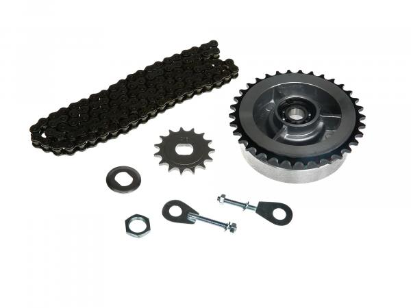 Small sprocket drive set (chain set) - for Simson S51, S70, S53, S83