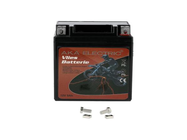 Batterie 12V 5Ah AKA (Vlies - wartungsfrei) - für MZ ETZ 125, ETZ 150