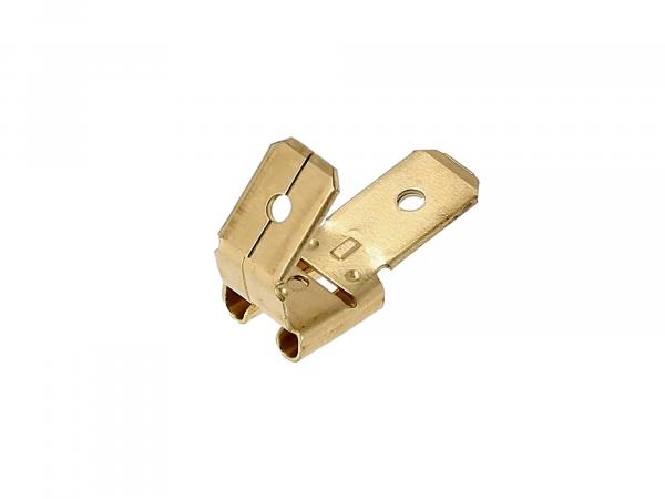 Flat receptacle with branch Plug width: 6.3 mm Plug thickness: 0.8 mm