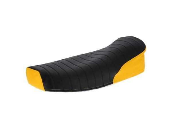 10069576 Sitzbezug strukturiert, schwarz/gelb ohne Schriftzug - für Simson S50, S51, S70, KR51/2 Schwalbe, SR4-3 Sperber, SR4-4 Habicht - Bild 1