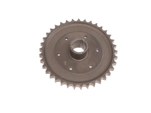clutch sprocket 37 tooth - for MZ ES125, ES150, ETS125, ETS150, TS125, TS150 - IWL TR150 Troll