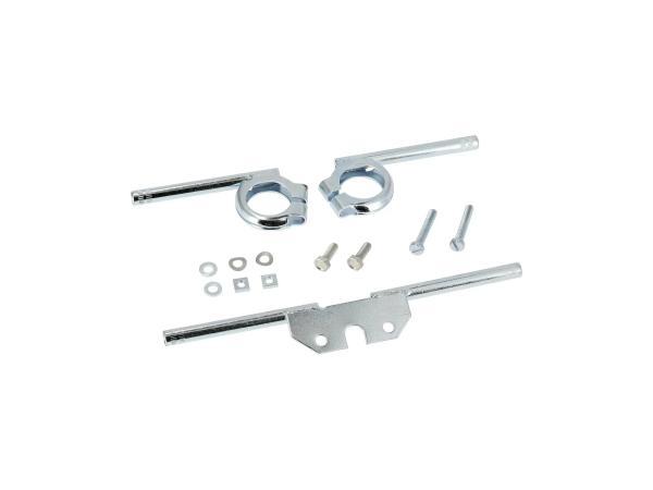 10070252 Set: Blinkleuchtenträger vorn + hinten incl.Befestigungsschrauben, verzinkt, Ø10mm - Simson S50, S51, S70 - Bild 1