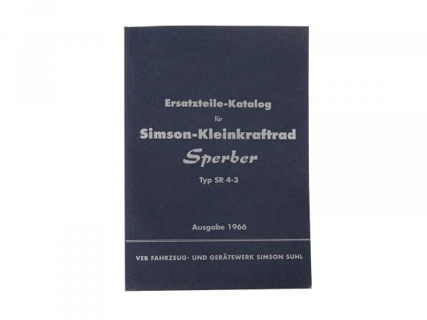 Spare parts catalogue, spare parts list Simson small motorcycle Sperber SR4-3 - issue 1966